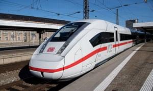Deutsche Bahn's ICE train.