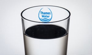 Thames Water logo on a glass of water