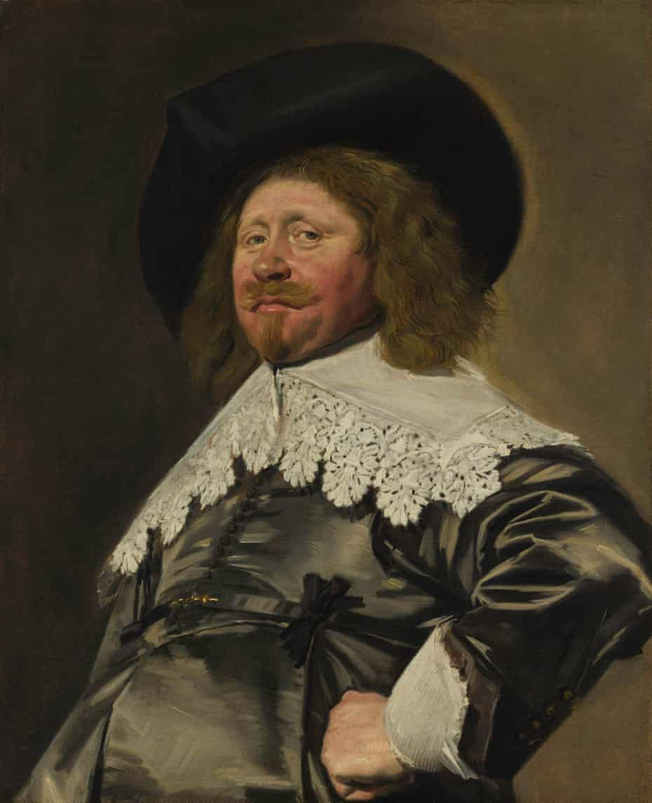 A detail from Claes Duyst van Voorhout, early c1630 by Frans Hals.