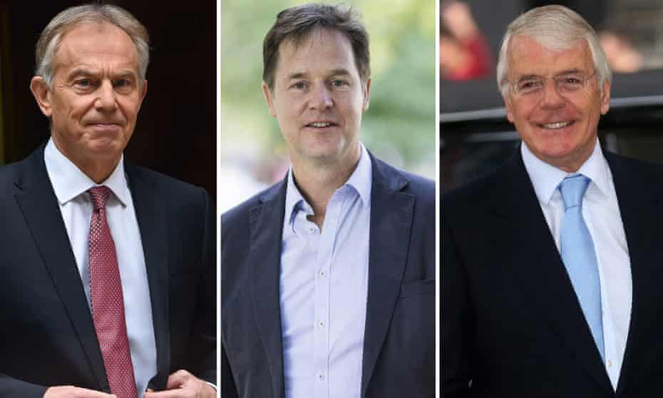 Tony Blair, Nick Clegg, John Major