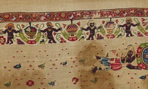 Curtains decorated with Christian and classical imagery … from Egypt: Faith After the Pharaohs