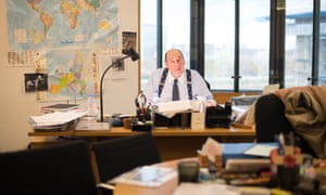 Sir Nicholas Soames in his office in his last day as an MP. The grandson of Winston Churchill, Soames was first elected to parliament in 1983.