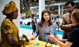 Melinda Gates (centre) at the Women Deliver conference in Copenhagen, where her foundation has announced $80m for collecting data on women and girls.