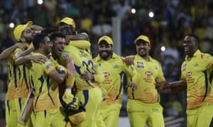 Chennai Super Kings, owned by India Cements, celebrate IPL final glory in 2018.