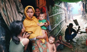 Rohingya refugees in the Kutupalong camp in Cox's Bazar, Bangladesh.
