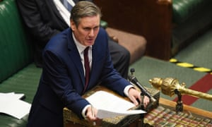 Labour leader Keir Starmer speaks in the House of Commons earlier this month