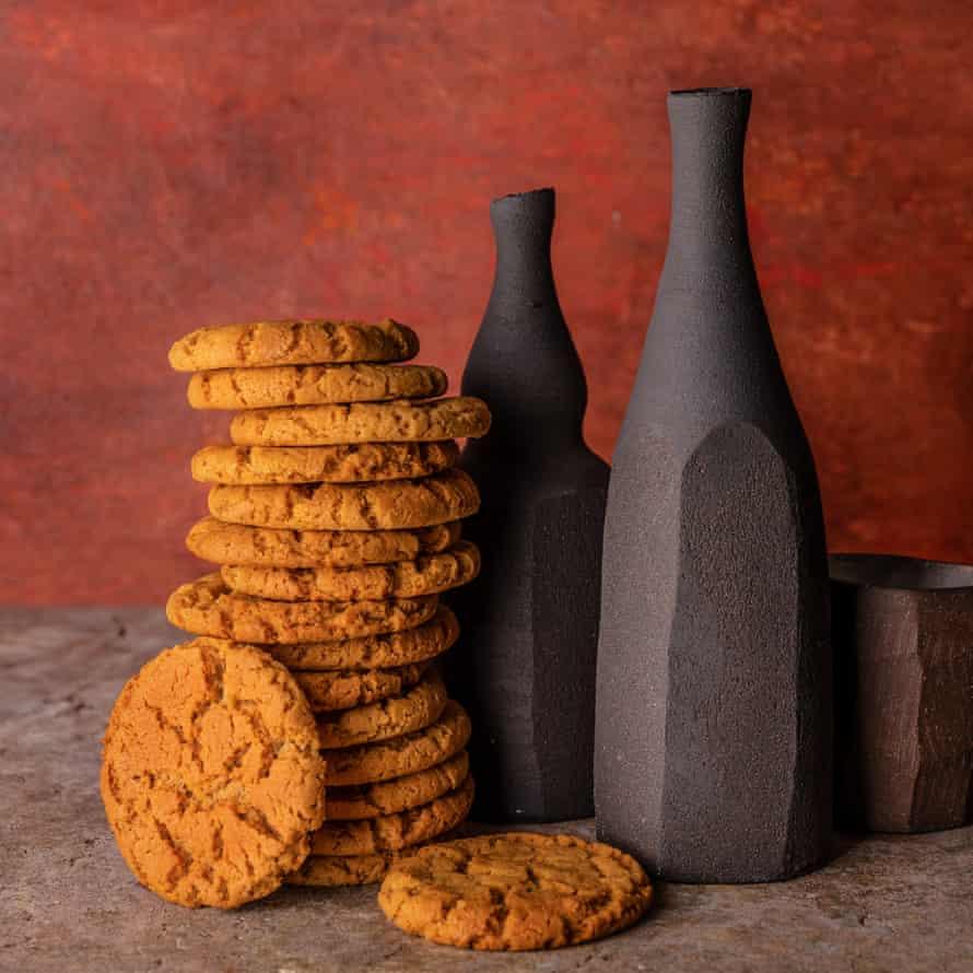 Hot gingernut biscuits Rose Carrarini 20 best biscuits supplement Observer Food Monthly OFM