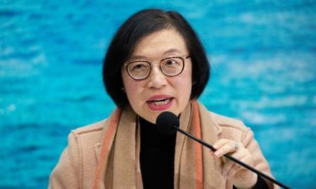 Sophia Chan, Hong Kong's secretary for food and health, head and shoulders.