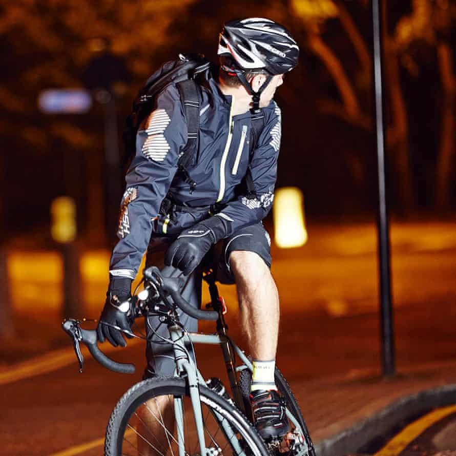 bike rider in the dark