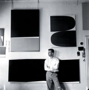 Ellsworth Kelly, photographed in his Broad Street studio, New York, 1956.