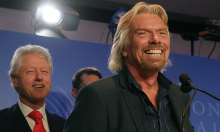 Bill Clinton and Richard Branson at a Clinton Global Initiative event in New York in 2006.