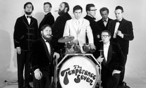 'Whispering' Paul McDowell (in white) with the Temperance Seven in the 1960s.