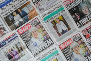 Newspapers react to the election exit poll results