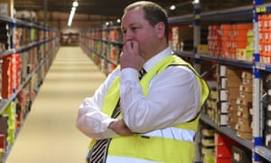 Mike Ashley in the Shirebrook Warehouse