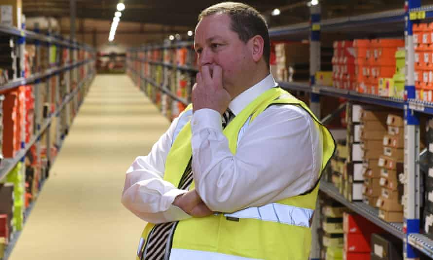 Mike Ashley at the Shirebrook HQ in Derbyshire