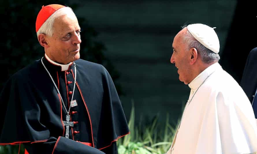 Donald Wuerl, left, with Pope Francis