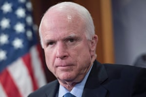 John McCain attends a news conference held to voice opposition to US President Barack Obama's plan to shut down the Guantanamo Bay detention camp.