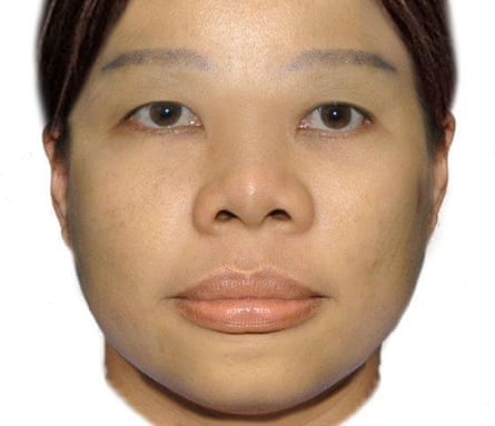A computer-generated image of a woman found dead in a suitcase in the Swan river in July