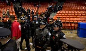 Chicago police at the UIC Pavilion