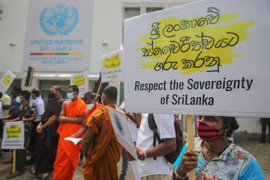 Protest in Colombo on 1 March against the proposed resolution