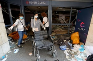 Beirut's hospitals were overwhelmed with wounded