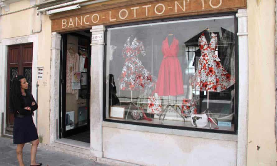 Exterior Banco Lotto, Venice, Italy.