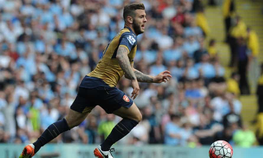 Jack Wilshere played at the top of the Arsenal midfield trio with Alex Iwobi moving out to the left against Manchester City.