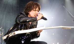 The band's centrifugal force … Lzzy Hale of Halestorm.