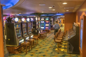 The casino is closed while staff clean the machines and seats