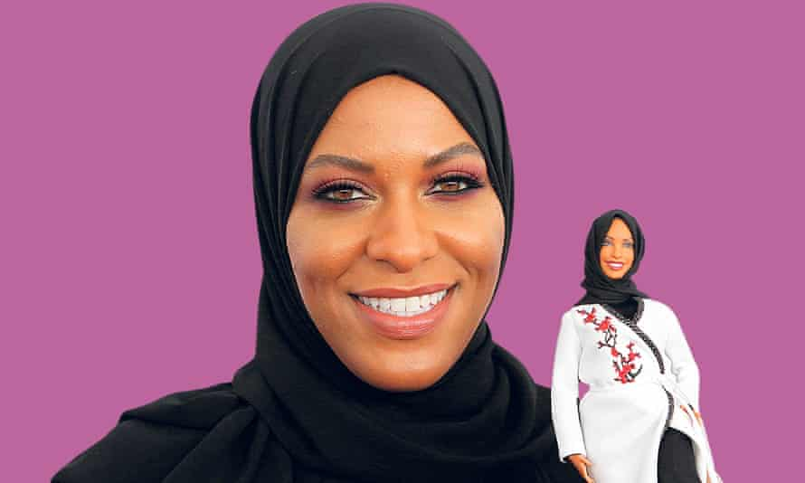 Olympic fencer Ibtihaj Muhammad with her Shero Barbie