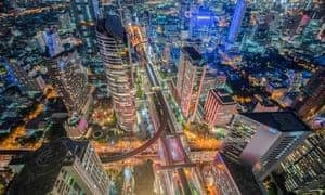 Top view of bangkok , Thailand