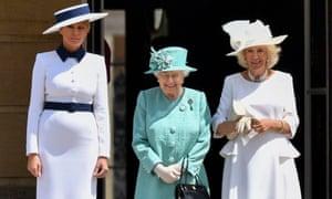 Melania, the Queen and Camilla.