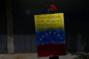 A shield reads 'Promise me you will come back tomorrow, Venezuela'