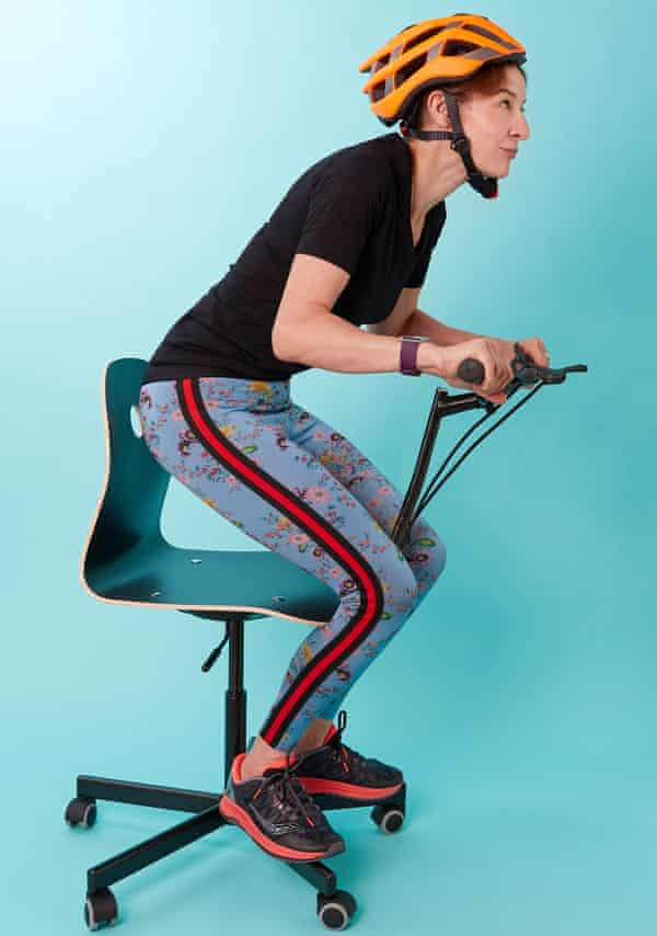 Fit In My 40s Everyone Wants A Go On The Bike Desk Health Wellbeing The Guardian