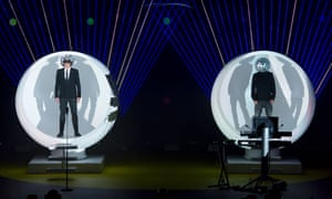 'Headgear turns out to be a big feature': Pet Shop Boys Neil Tennant and Chris Lowe make an entrance at the Royal Opera House.