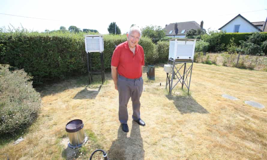 Donald Crowe, owner of the garden that hosts the weather station