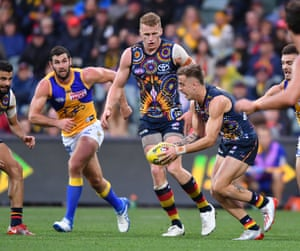 Jordan Gallucci of the Crows during the round 10 AFL match between the Adelaide Crows and West Coast Eagles at Adelaide Oval.