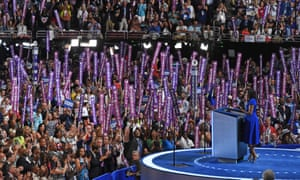 Obama delivered her remarks to a raucous crowd waving placards reading 'Michelle'.