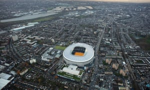 An aerial view of the new Tottenham Stadium.