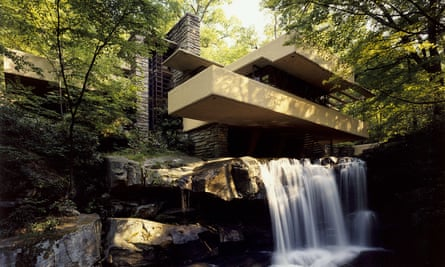 Fallingwater by Frank Lloyd Wright. Born in 1867, Wright is considered America's greatest 20th-century architect.