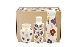 Set of three vases, £34.95emmabridgewater.co.uk
