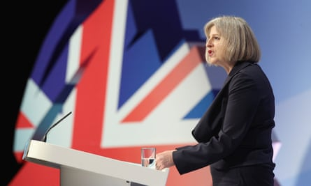Theresa May in 2011 announcing plans to clamp down on illegal immigrants and foreign criminals using the Human Rights Act to avoid deportation