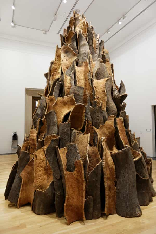 Towering spire of cork bark