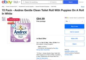 An eBay posting for toilet rolls