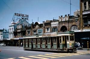 A P-type tram on Oxford Street