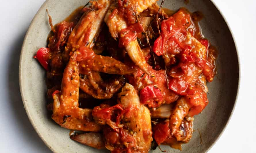 Wings of desire: chicken wings with spicy tomato sauce.