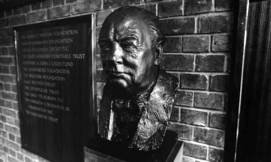 Bust of Sir Winston Churchill at Churchill College, Cambridge.