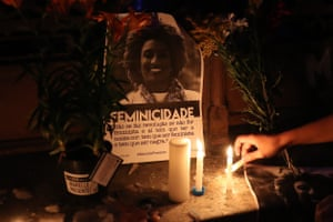 Candles and tributes for Marielle Franco.