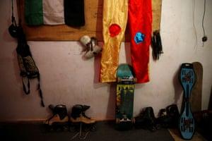 Mustafa's skating kit
