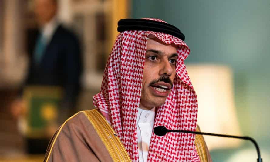 Saudi foreign minister Prince Faisal bin Farhan Al Saud